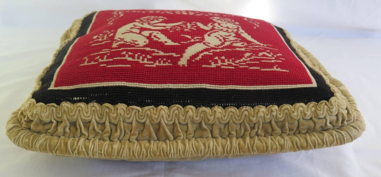 Late 19th Century Pillow or Cushion Needlepoint Tapestry of Classical Design In Good Condition For Sale In Lincoln, Lincolnshire
