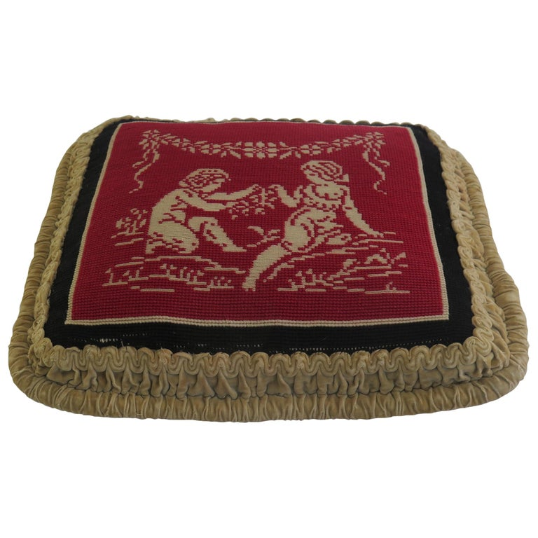 Late 19th Century Pillow or Cushion Needlepoint Tapestry of Classical Design For Sale