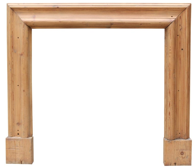 English Late 19th Century Pine Bolection Fire Surround For Sale