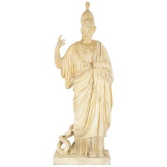Late 19th Century Plaster Statue of Athena After the Antique