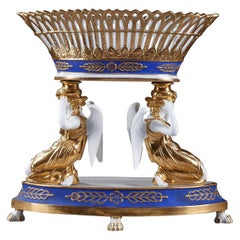 Late 19th Century Porcelain Centerpiece in Dagoty Style