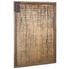 Late 19th Century Public School Latin Honours Board