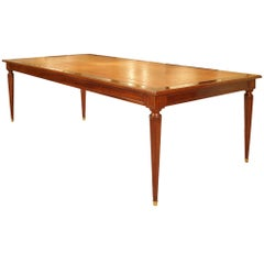 Rectangular French Louis XVI Style Mahogany Library Center Table