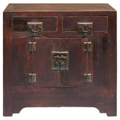 Late 19th Century Reddish Brown Cabinet from Shanxi, China