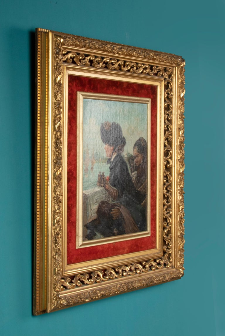 Late 19th Century Romantic Oil Painting After Eduardo Garrido For Sale 4