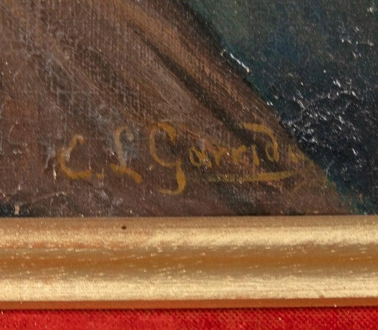 Gilt Late 19th Century Romantic Oil Painting After Eduardo Garrido For Sale
