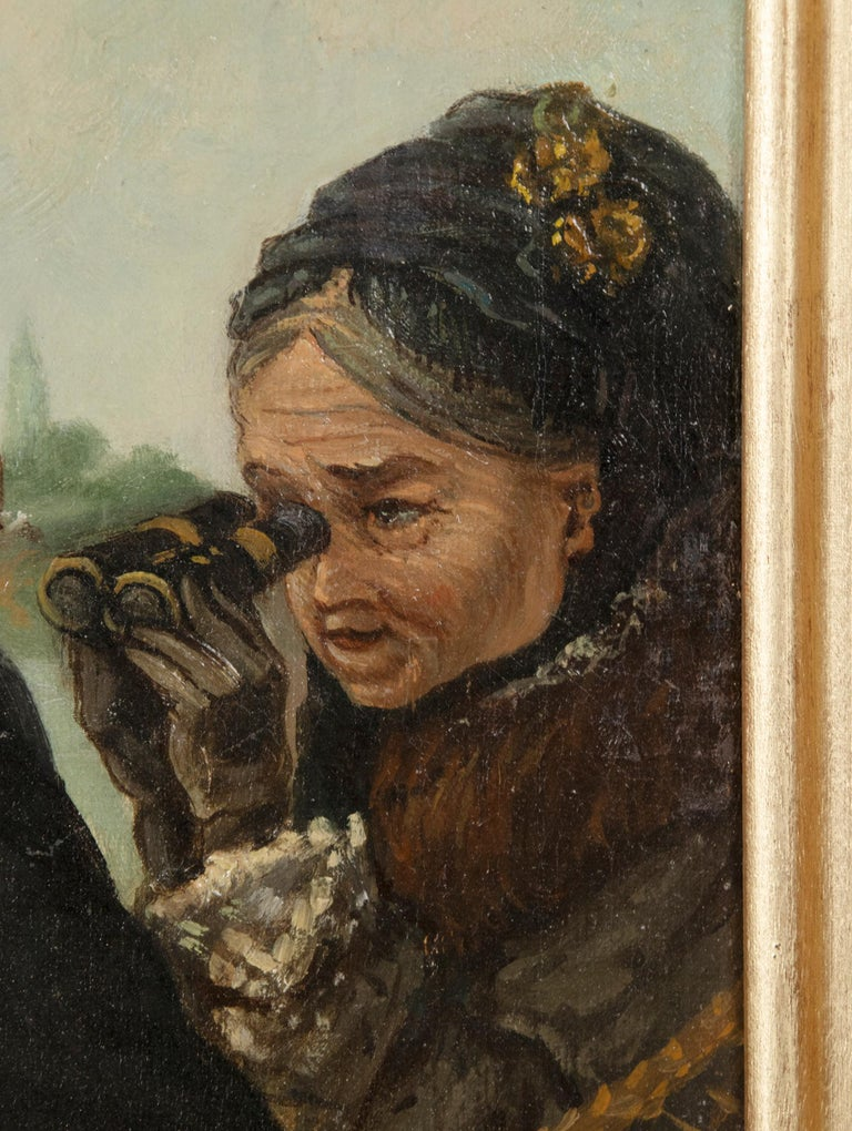 Late 19th Century Romantic Oil Painting After Eduardo Garrido For Sale 2