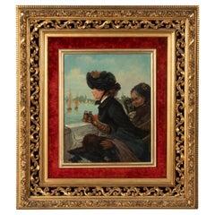 Late 19th Century Romantic Oil Painting After Eduardo Garrido