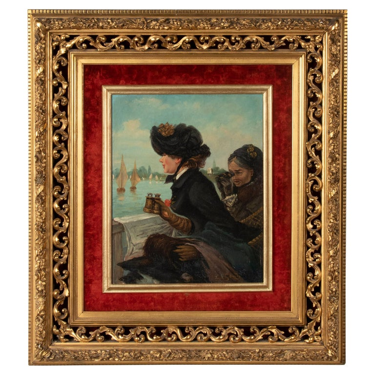 Late 19th Century Romantic Oil Painting After Eduardo Garrido For Sale