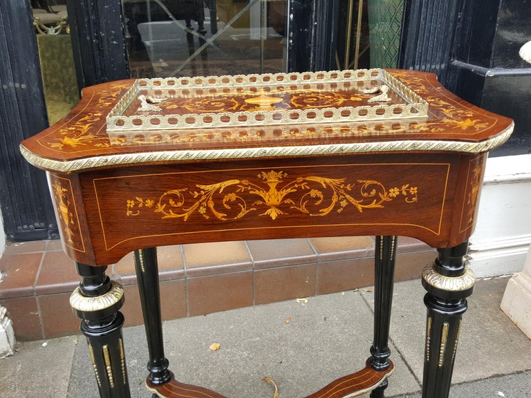 Late 19th Century Rosewood Jardinière For Sale 2