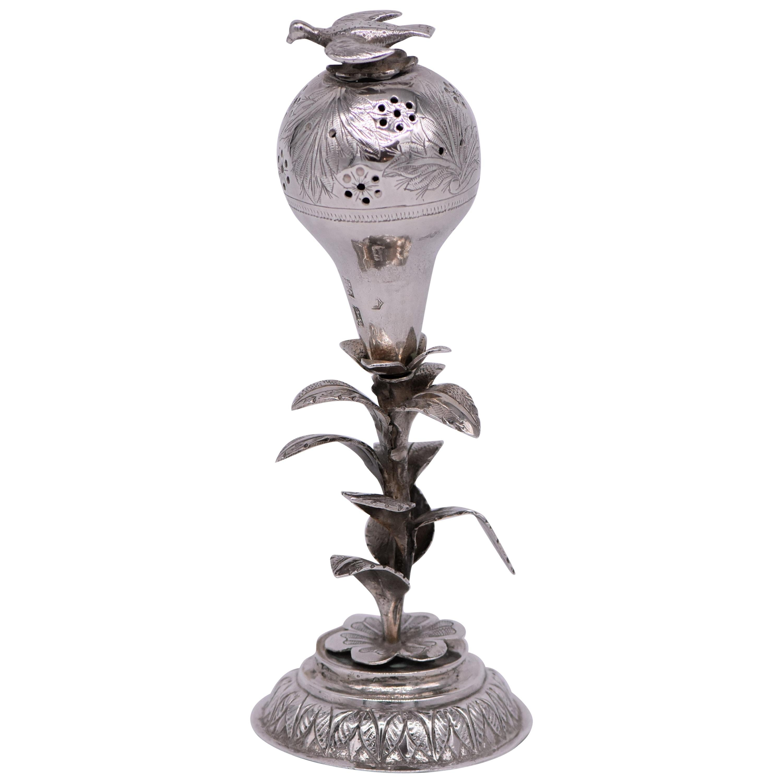 Late 19th Century Russian Empire Silver Spice Container