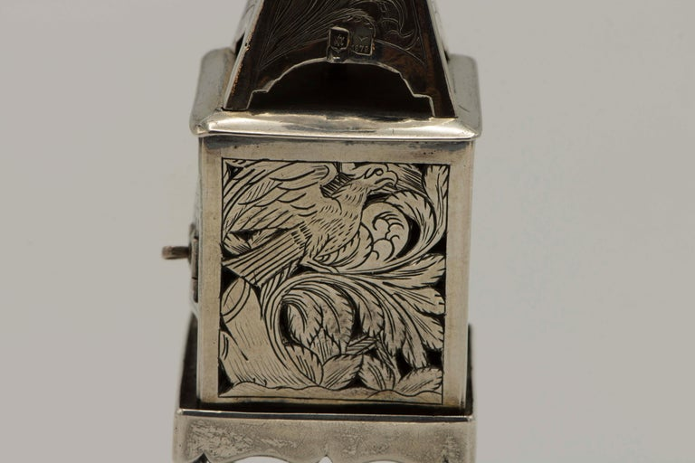 Late 19th Century Russian Empire Silver Spice Tower For Sale 2