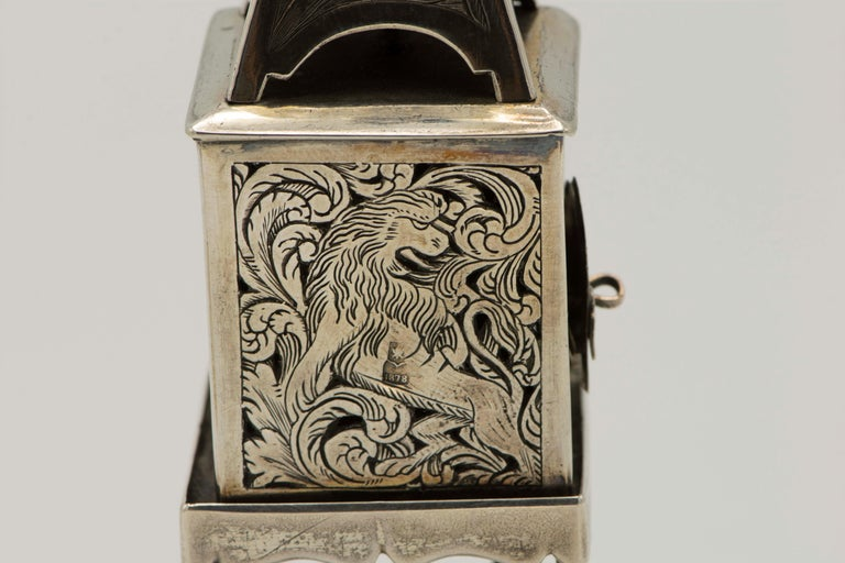 Late 19th Century Russian Empire Silver Spice Tower For Sale 4