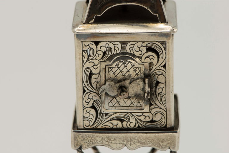 Late 19th Century Russian Empire Silver Spice Tower For Sale 5