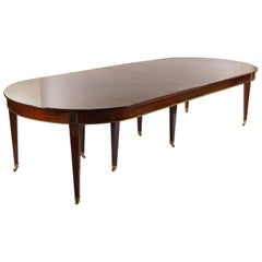 Russian Neoclassic Style Mahogany Dining Table