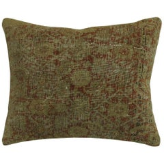 Late 19th Century Rust Colored Distressed Persian Rug Pillow