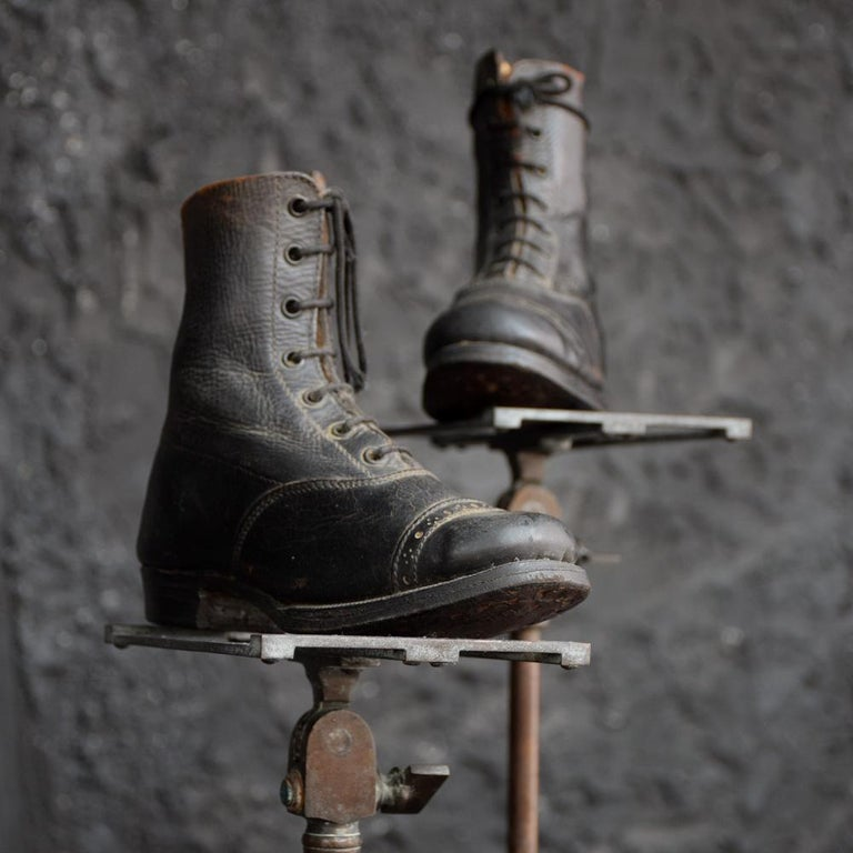 Late 19th Century Salesman's Sample Handmade Leather Boots For Sale 8