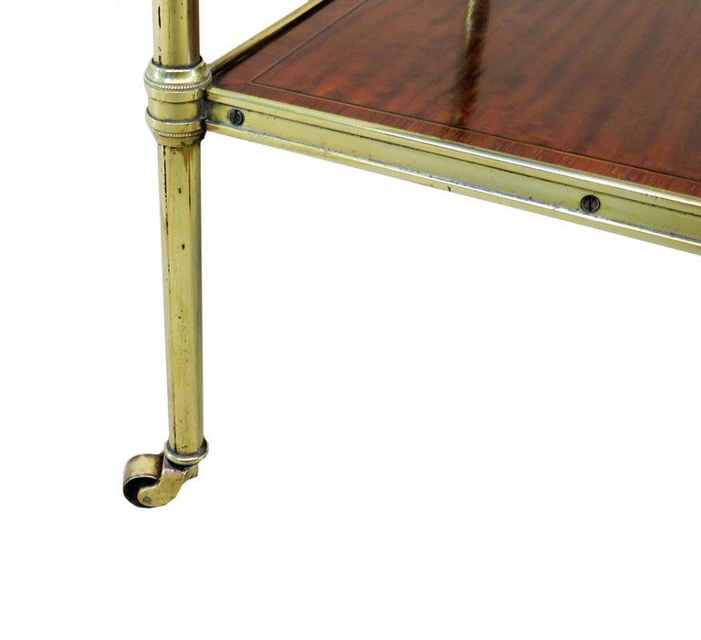 Late Victorian Late 19th Century Satinwood And Brass Etage For Sale