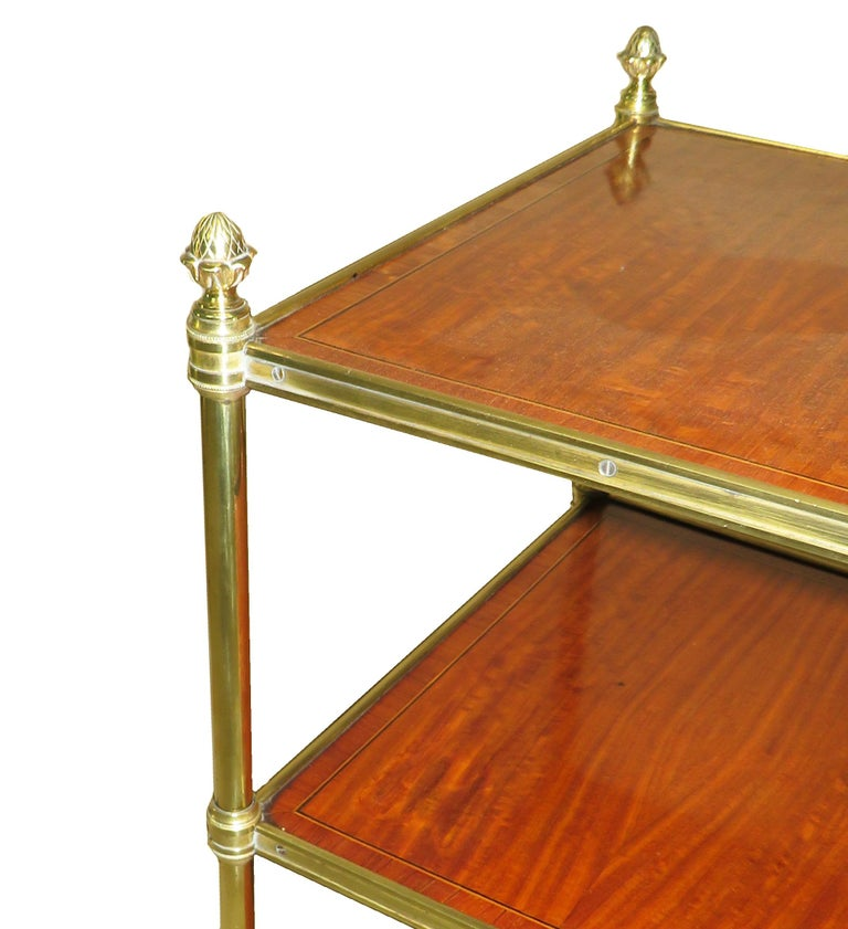 Late 19th Century Satinwood And Brass Etage In Good Condition For Sale In Bedfordshire, GB
