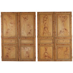 Late 19th Century Set of Four Faux Painted Wood Panels from France