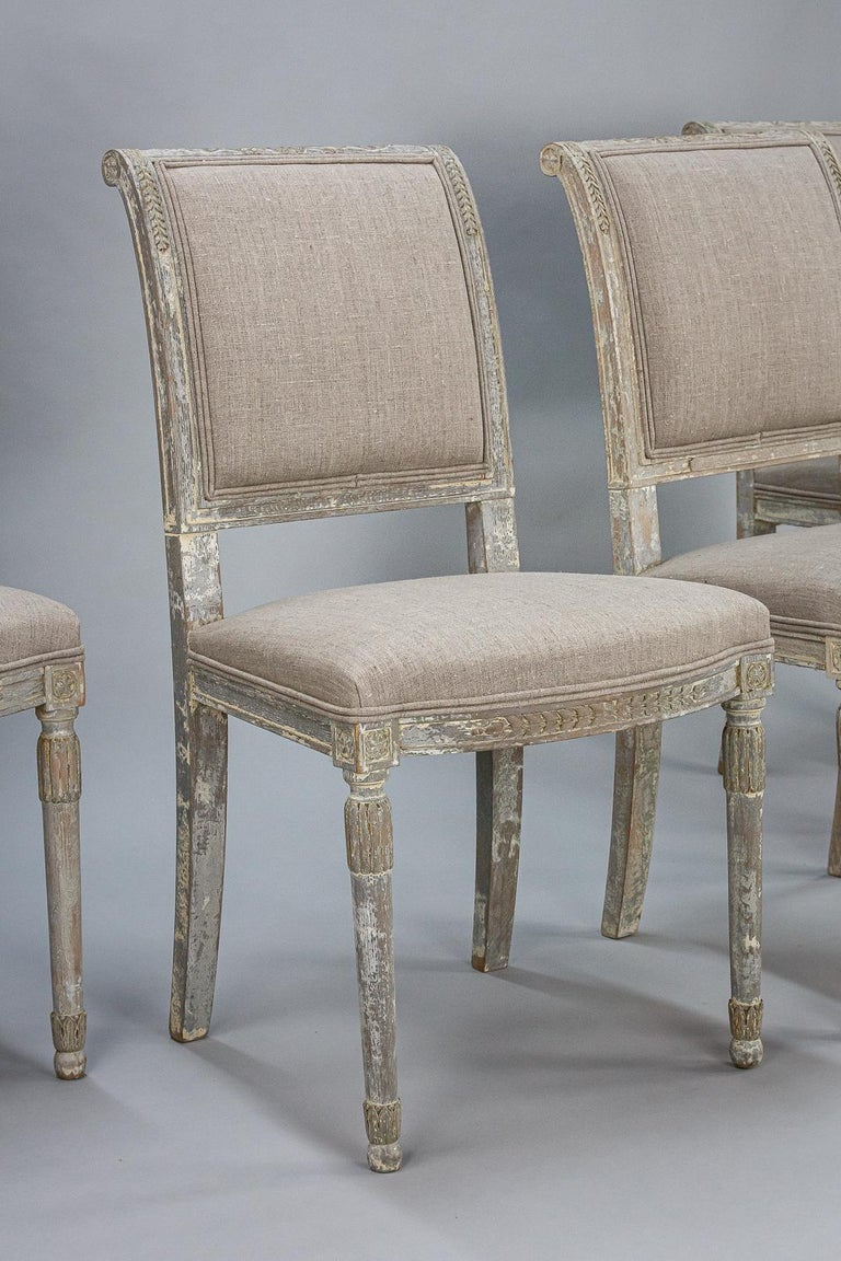 Late 19th Century Set of Four Swedish Chairs In Fair Condition In Pease pottage, West Sussex