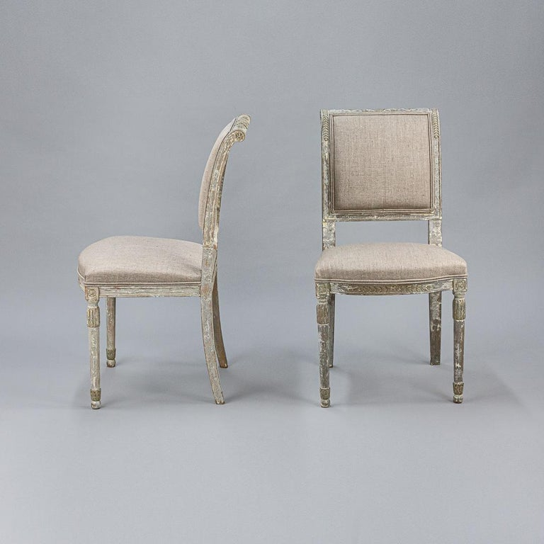 Wood Late 19th Century Set of Four Swedish Chairs