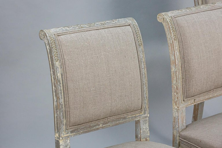 Late 19th Century Set of Four Swedish Chairs 1