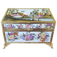 Late 19th Century Sevres Style Exceptional Samson Dressing Table Box