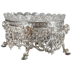 Late 19th Century Silver and Cut-Crystal Jardiniere