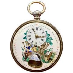 Late 19th Century Silver Pendulum Pocket Watch