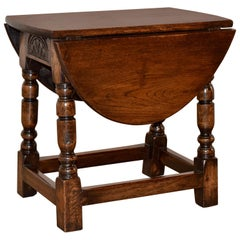 Late 19th Century Small Drop-Leaf Side Table