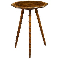 Late 19th Century Small Olive-Wood Occasional Table