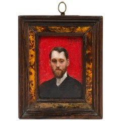 Late 19th Century Small Painting by Julius LeBlanc Stewart