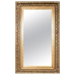Late 19th Century Spanish Rectangular Mirror with Ornamental Gilded Frame