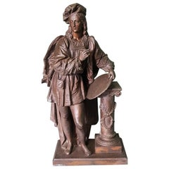 Late 19th Century Statue from a Clock Representing a Painter