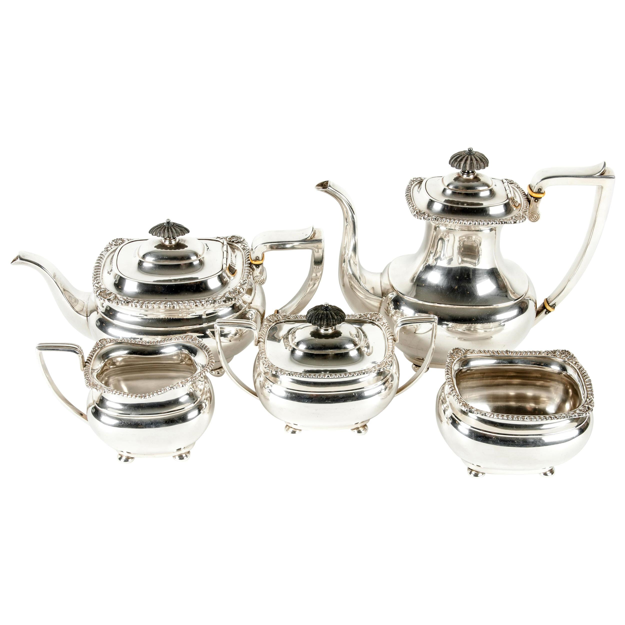 Late 19th Century Sterling Silver Tea and Coffee Service