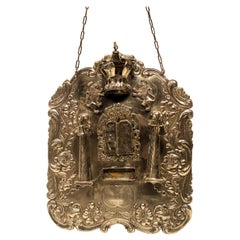 Late 19th Century Sterling Silver Torah Breast Plate
