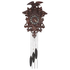 Late 19th Century Swiss Carved Cuckoo Clock