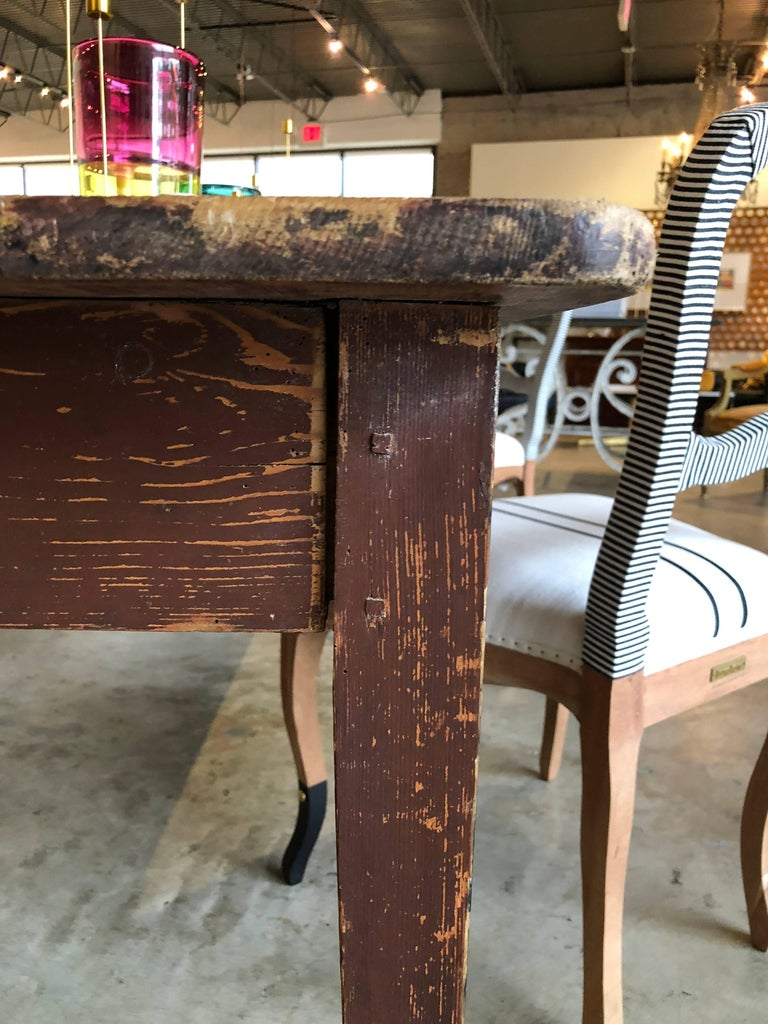 Late 19th Century Table Originally Used in French Pub For Sale 1