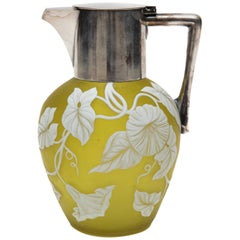 Late 19th Century Thomas Webb & Sons Cameo Glass Jug