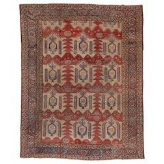 Late 19th Century Tribal Antique Heriz Serapi Carpet