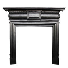 Late 19th Century Victorian Cast Iron Fireplace Surround