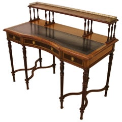 Late 19th Century Victorian Inlaid Rosewood Writing Desk by Collinson and Lock