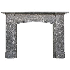 Late 19th Century Victorian St Anne Marble Fireplace Surround
