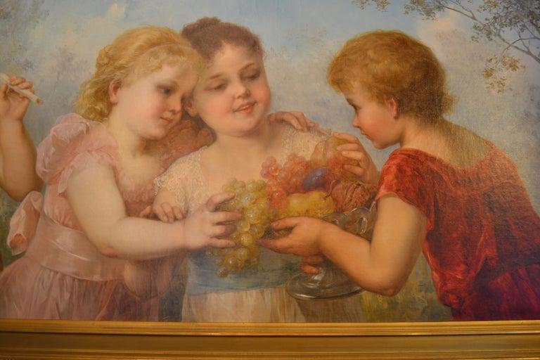 Austrian Late 19th Century Viennese Oil on Canvas Portrait For Sale