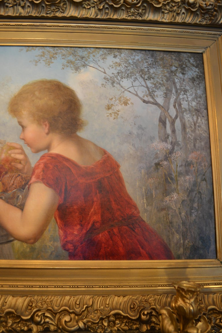 Late 19th Century Viennese Oil on Canvas Portrait In Good Condition For Sale In New Orleans, LA
