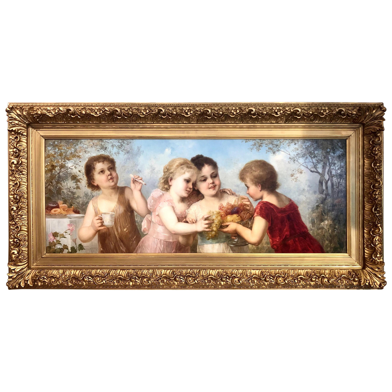 Late 19th Century Viennese Oil on Canvas Portrait