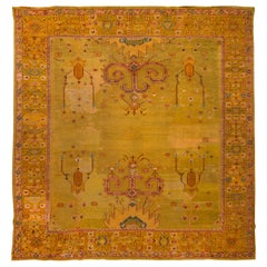 Late 19th Century Vintage Oushak Wool Rug