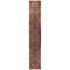 Late 19th Century Vintage Persian Heriz Wool Runner