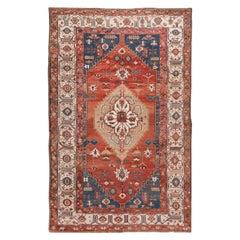 Late 19th Century Vintage Serapi Wool Rug